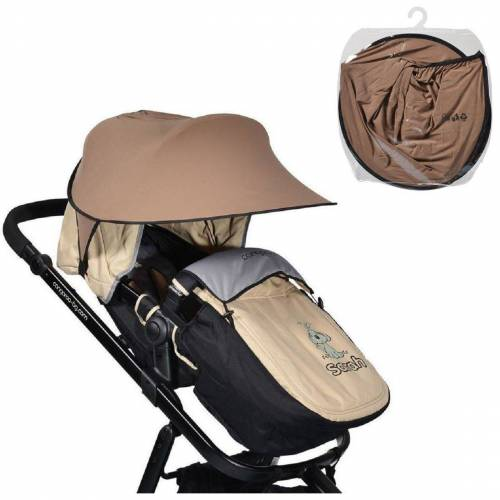 Cangaroo Kinderwagenschirm »Universal Sonnenschutz«, für den Kinderwagen Schutz vor Sonne Wind Staub, braun