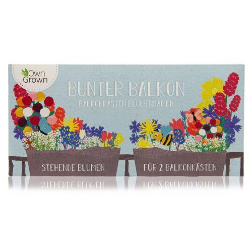 OwnGrown Blumenkasten »Bunter Balkon - Balkonkasten Blumensamen Mischung - stehende Blumen für 2 Kästen«