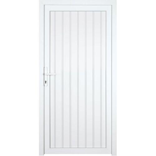 KM Zaun Nebeneingangstür »K608P«, BxH: 98x208 cm cm, weiß, links