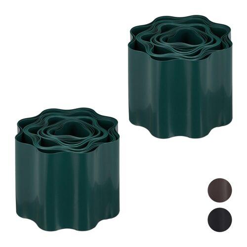 relaxdays Rasenkante »2 x Flexible Rasenkante grün«