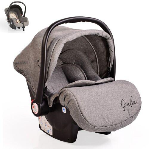 Moni Babyschale »Babyschale Gala, Gruppe 0+«, 3 kg, (0 - 13 kg), Sitzpolster, Fußabdeckung, hellgrau