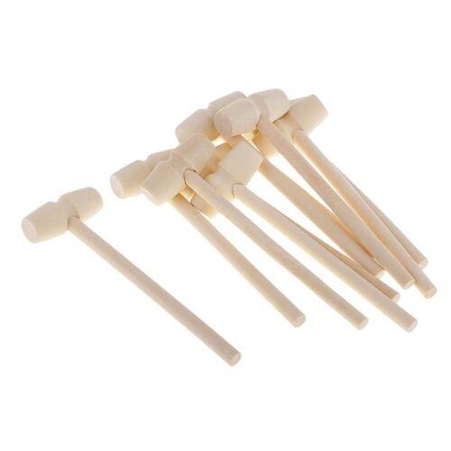 Gotui Hammer, 20 stk Holz Mallets,Kuchenhammer,Kinderspielzeughammer,Handwerkzeuge