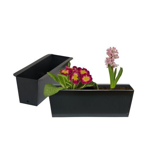 BigDean Blumenkasten »Pflanzkasten Palette Paletten Pflanzkübel 35,5 x 12,5 x 12 cm Palettenkasten« (2 Stück)