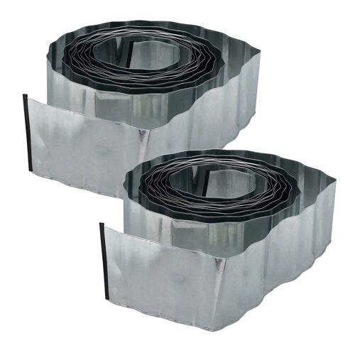 relaxdays Rasenkante »2 x Rasenkante 10m Metall«