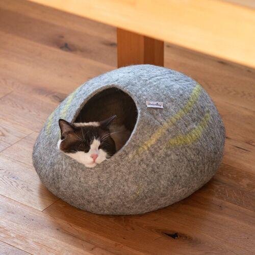 naturling Katzenliege »Filz Katzenhöhle 100% Schurwolle handgemacht«, Katzenhaus
