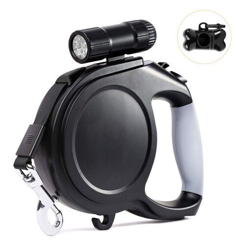kueatily Hundeleine »Hundeleine, einziehbare Hundeleine, Lauftrainingsleine mit abnehmbarer Taschenlampe«