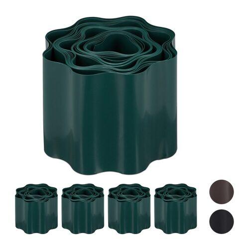 relaxdays Rasenkante »5 x Flexible Rasenkante grün«