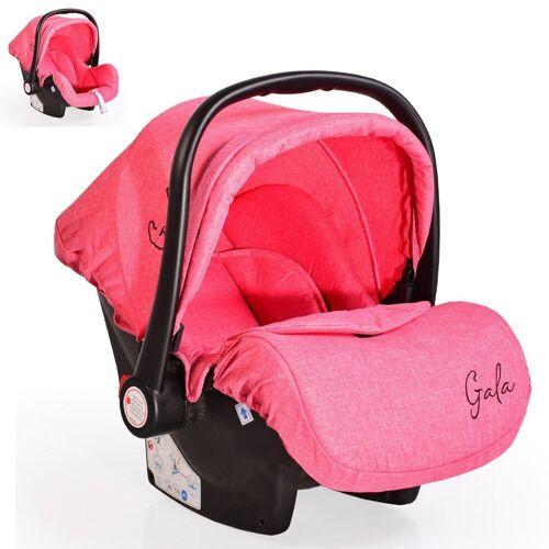 Moni Babyschale »Babyschale Gala, Gruppe 0+«, 3 kg, (0 - 13 kg), Sitzpolster, Fußabdeckung, pink
