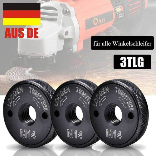 XIIW Sägeblatt »3X M14 Schnellspannmutter für alle Winkelschleifer Spannmutter Schraube Dew AEG« (3-St)