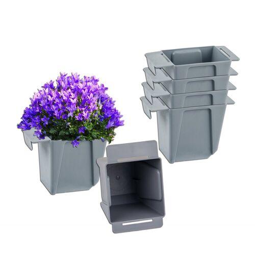 BigDean Blumenkasten »Pflanzkasten Palette Mini Kunststoff Paletten Pflanzkübel Palettenkasten Palettenpflanzkasten« (6 Stück)