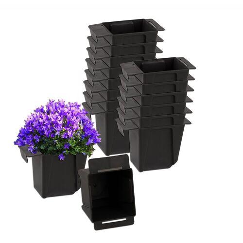 BigDean Blumenkasten »Pflanzkasten Palette Mini Kunststoff Paletten Pflanzkübel Palettenkasten Palettenpflanzkasten« (16 Stück)