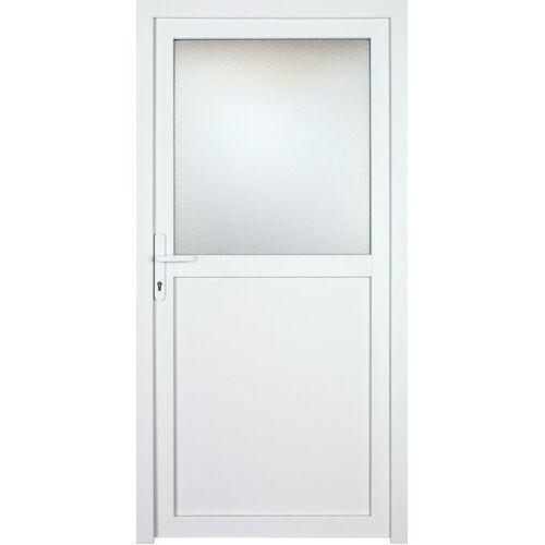 KM Zaun Nebeneingangstür »K602P«, BxH: 98x208 cm cm, weiß, links