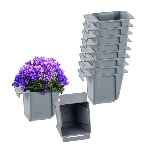 BigDean Blumenkasten »Pflanzkasten Palette Mini Kunststoff Paletten Pflanzkübel Palettenkasten Palettenpflanzkasten«