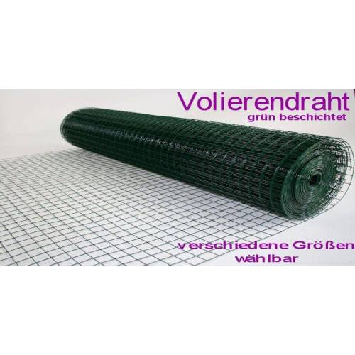 MYPETS Voliere »Volierendraht Grün 12 x 12 mm Drahtgitter Verzinkt Drahtzaum Maschendraht Draht Voliere«
