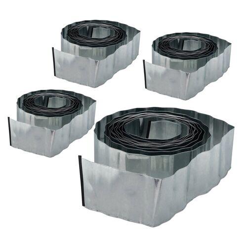 relaxdays Rasenkante »4 x Rasenkante 10m Metall«