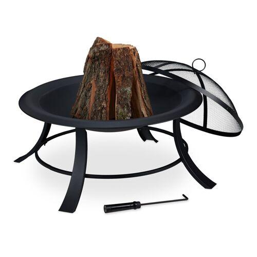 relaxdays Feuerschale »Feuerschale mit Funkenschutz«