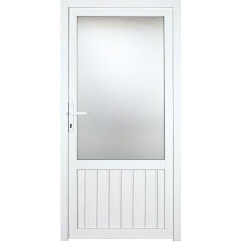 KM Zaun Nebeneingangstür »K607P«, BxH: 98x208 cm cm, weiß, links