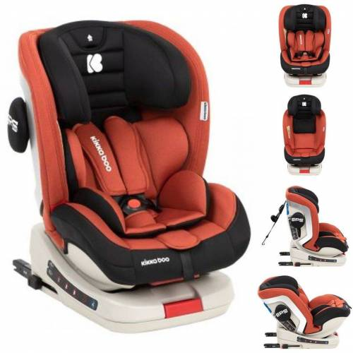 Kikkaboo Autokindersitz »Kindersitz Kindersitz Strong Isofix«, 12.6 kg, Gruppe 0+/1/2/3 (0 - 36 kg), 5-Punkt-Gurt, orange