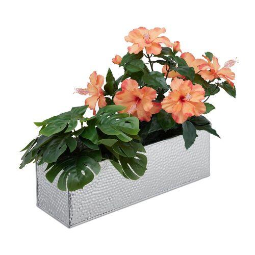 relaxdays Blumenkasten »Blumenkasten für innen«, Silber