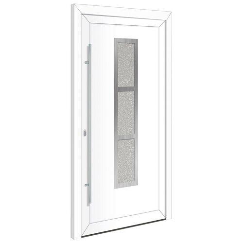 RORO Türen & Fenster Haustür »Otto 14«, BxH: 100x200 cm, weiß, ohne Griff