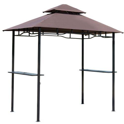 Outsunny Grillpavillon »Grillpavillon mit Doppeldach«