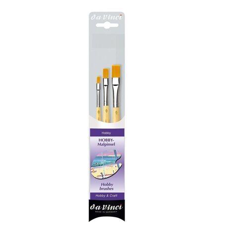 DaVinci Pinsel »Hobby Malpinsel 3er Set«, (3er Set), Hobbypinsel, Modellbau, Malen, Flachpinsel, Synthetikpinsel