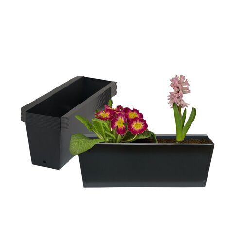 BigDean Blumenkasten »Pflanzkasten Palettet Paletten Pflanzkübel 35,5 x 12,5 x 12 cm Palettenkasten« (10 Stück)