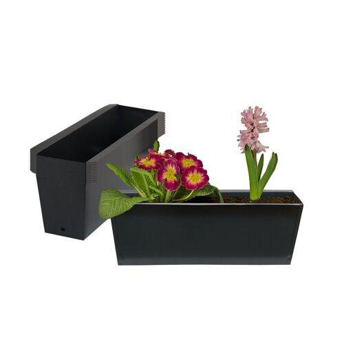 BigDean Blumenkasten »Pflanzkasten Palette Paletten Pflanzkübel 35,5 x 12,5 x 12 cm Palettenkasten« (12 Stück)
