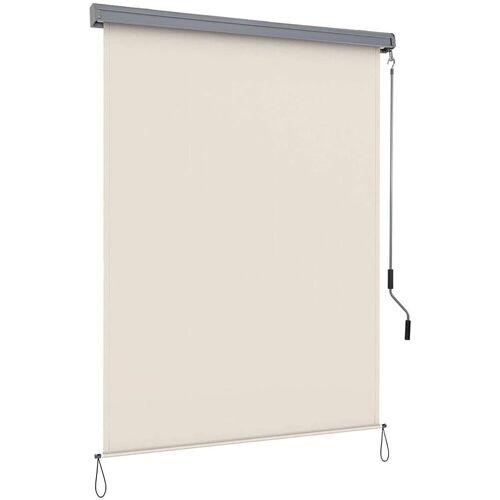 COSTWAY Senkrechtmarkise »Sichtschutzrollo Fensterrollo« Sichtschutz Sonnenschutz Windschutz, mit Aluminiumrahmen, beige