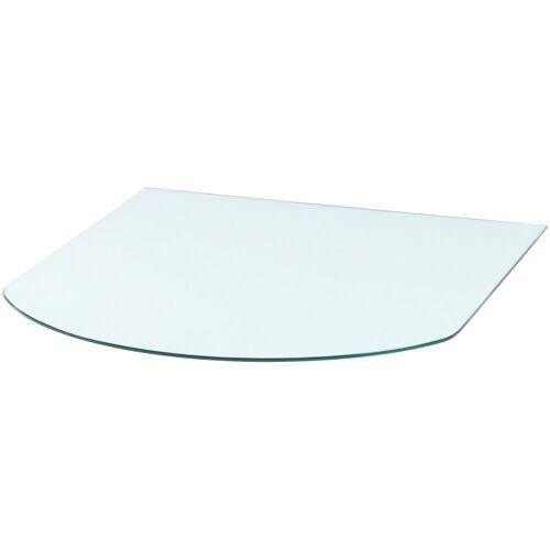 Heathus Bodenschutzplatte, Halbrundbogen, 85 x 110 cm, Milchglas, für Kaminöfen