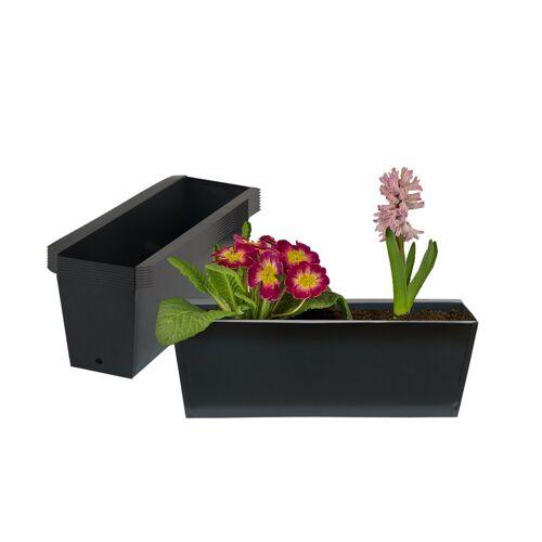 BigDean Blumenkasten »Pflanzkasten Palette Paletten Pflanzkübel 35,5 x 12,5 x 12 cm Palettenkasten« (8 Stück)