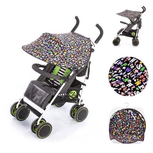 Chipolino Kinderwagenschirm »Universal Sonnenschutz Kinderwagen, ABC«, Schutz vor Sonne, Wind, Staub