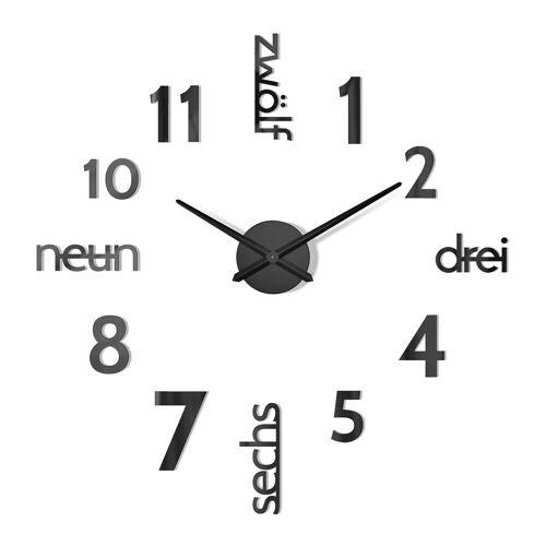 Cander Berlin Wanduhr »MNU 0180 S« (XXL, 100 cm Durchmesser, Wandtattoo)