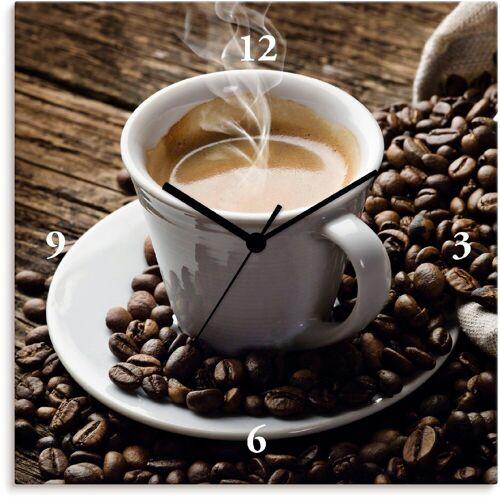 Artland Wanduhr »Heißer Kaffee - dampfender Kaffee«