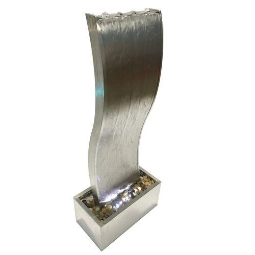Dehner Gartenbrunnen »Curve mit LED, 108 x 44.5 x 23.5 cm, Edelstahl«