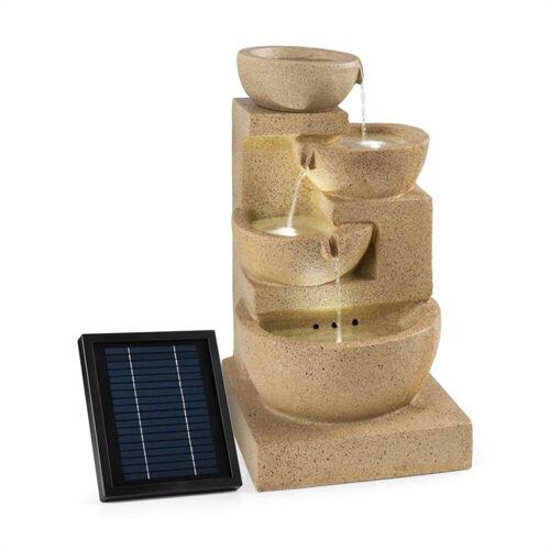 blumfeldt Gartenbrunnen »Korinth Zierbrunnen Gartenbrunnen 3W Solar LED Sandsteinoptik«, 39 cm Breite