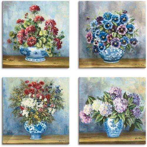 Artland Leinwandbild »Blumen Bouqets«, Blumen (4 Stück)