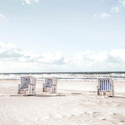 Reinders! Glasbild »Tag im Strandkorb«