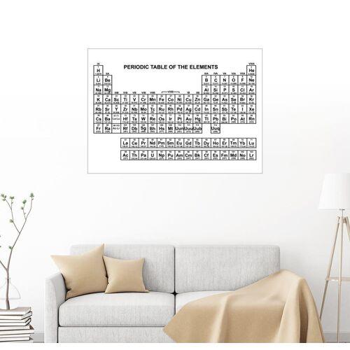 Posterlounge Wandbild, Periodensystem