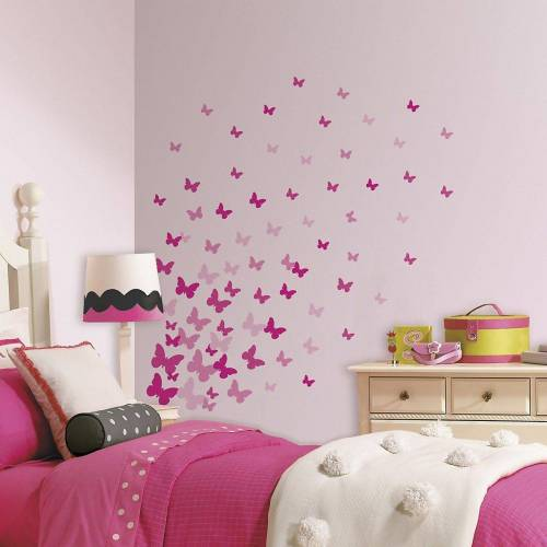 RoomMates Wandsticker »Wandsticker Schmetterlinge, 75-tlg.«