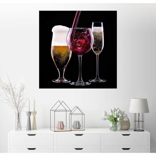 Posterlounge Wandbild, Getränke – Bier, Wein und Sekt