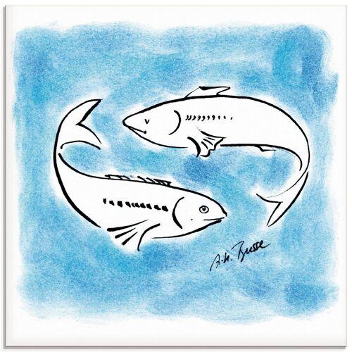 Artland Glasbild »Serie Sternzeichen Fische«, Sternzeichen (1 Stück)