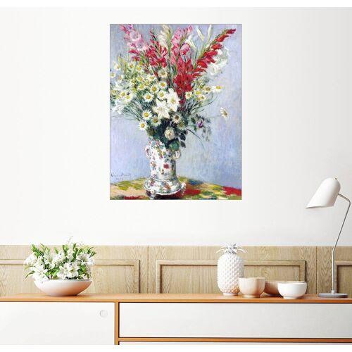 Posterlounge Wandbild, Blumenstrauß aus Gladiolen, Lilien und Margeriten