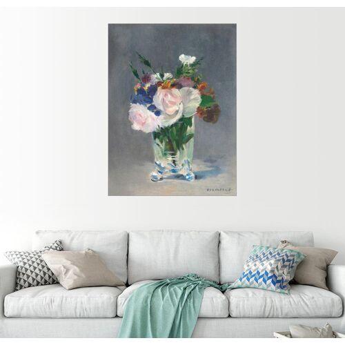 Posterlounge Wandbild, Blumen in einer Kristallvase
