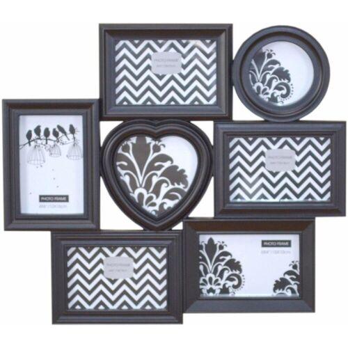 HOFMANN LIVING AND MORE Bilderrahmen, für 7 Bilder, mit unterschiedlichen Rahmenformen, schwarz