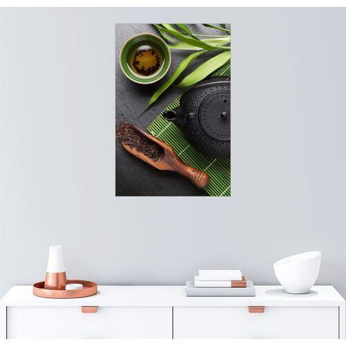 Posterlounge Wandbild, Asiatische Teeschale und Teekanne