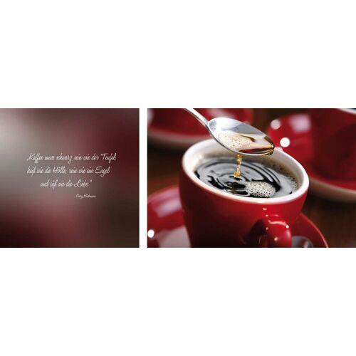 queence Leinwandbild »Kaffee«, (Set), 2er-Set