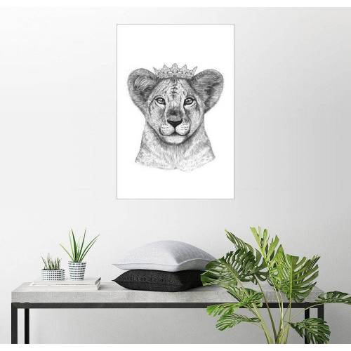 Posterlounge Wandbild, The lion prince