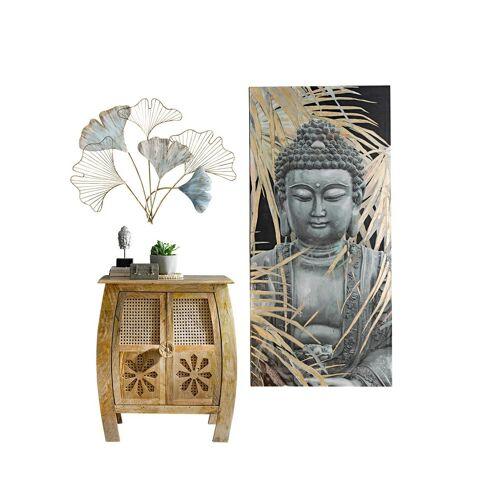 heine home Bild Buddha mit Palmblätter