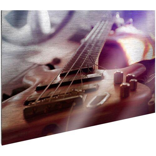 ART & Pleasure Metallbild »Bass guitar«, Gitarre